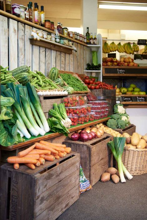 Top Barn Harvest Shop Produce Section