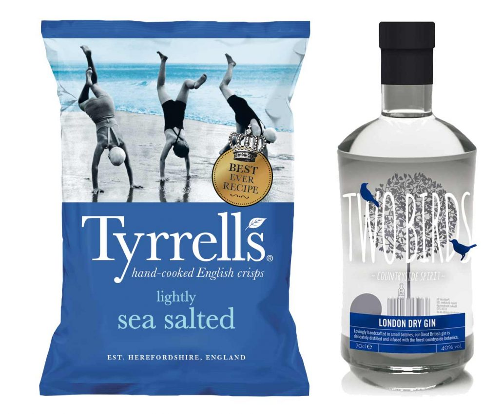 Top Barn Harvest Shop Tyrells Crisps and Two Birds Gin